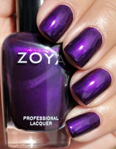 Zoya: Giada- This is a stunning royal purple with a subtle metallic finish. I love this color! Daily touch-ups are needed, started showing edge wear the first day, even though I wrapped my tips. I'd still wear it again, because it.is.gorgeous.