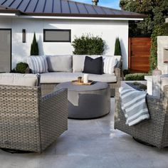 Outdoor Ottomans, Outdoor Dining Chairs, Swivel Club Chairs, Sunset West, Outdoor Bar Table, Outdoor Living Furniture, Silver Cushions, Majorca, Small Patio