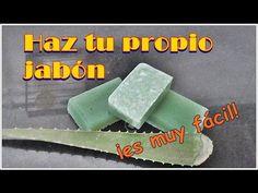 How to make a homemade glycerin soap with natural aloe vera. If you want a moisturized skin you can use almond, olive, coconut o. Aloe Vera, Soap Recipes, Handmade, Soaps, Glycerin Soap, Ideas Para, Lana, Decoupage, Youtube