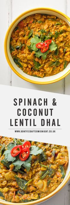 Spinach coconut lentil dhal compare at Wrhel.com - #Wrhel