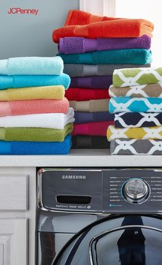 For all your soapy-kid, soggy-dog, and everyday-life-happens moments, bath towels that rise to the challenge are a must. Add new life to bathrooms with colorful, top- quality towel sets you can count on wash after wash. Lively pops of your fave colors are an added come-home-to-your-happy-place bonus. Bring a fresh look and feel to your bathroom decor with our soft and absorbent 6-piece towel set.