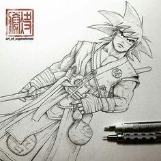#Art #Sketch #Drawing #Illustration #Pen #Ink #DBZ #Dragonballz #Goku #Anime #Manga #FanArt ...