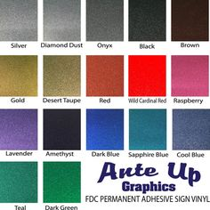 The FDC 3700 Series Ultra Metallic (Glitter) Outdoor sign vinyl comparable to Oracal 651   Strike peoples eye with FDC 3700 Ultra Metallic glitter vinyl ! This product will have your- store windows , cars, recreational vehicle and so much more captivate anyones attention! Comes in 12 x 12 sheets Colors available are Silver, Diamond Dust, Onyx, Black, Brown, Gold, Desert Taupe, Red, Wild Cardinal Red, Raspberry, Lavender, Amethyst, Dark Blue, Sapphire Blue, Cool Blue, Teal, Dark Green Royal…