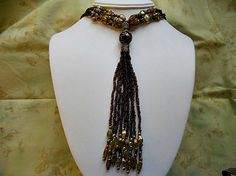 Vintage Necklace.  Deep Brown Seed Beads Help to by AprilSnowJewelry, $14.40