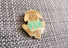 sweater rabbit enamel pin by MonsterFabrikk on Etsy