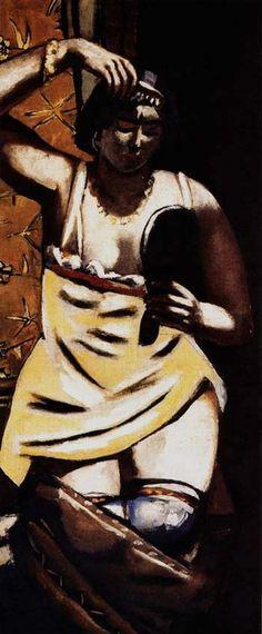 MAX BECKMANN Gypsy Woman (1928)
