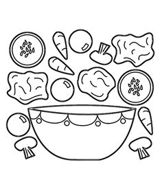 Ингредиенты для салата - razukrashki.com