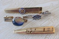 Snazzy Collection of Vintage Tie Clips & MoneyClip by KrasnyUgol