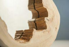 Wood mirror. Nature beauty shape
