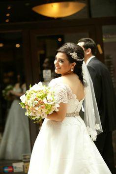 French alencon lace and silk organza wedding dress. Vintage inspired wedding dress. Dress by Melissa Gentile