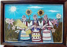 ΤΑ ΕΡΓΑ ΤΗΣ  ΣΟΦΙΑΣ  ΒΛΑΧΟY: ΚΟΡΙΤΣΙΑ ΣΤΟΝ ΗΛΙΟ Greek Art, Whimsical Art, Paintings, Blog, Christmas, Xmas, Paint, Painting Art, Blogging