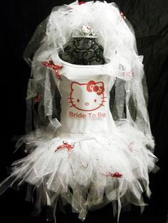 Hello Kitty Bride To Be Tutu And Veil Set :: Would I look like a hot mess?
