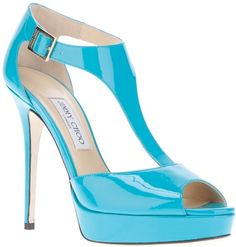 JIMMY CHOO ENGLAND Pat Sandal - Lyst I want to paint my living room this color;)