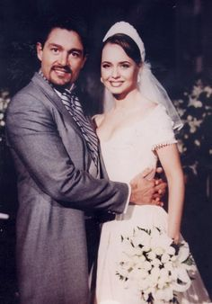 paulina, telenovela, wedding, couple, la Usurpadora, Gabriela Spanic, Fernando Colunga, beautiful people