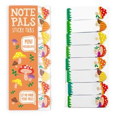 Holy shitake! Our Mini Mushrooms Note Pals Sticky Tabs are so intoxicatingly cute they must have broke the mold.  Naturally, we took a lichen to them immediately! They're pocket-sized so you can take them on any trip!   Don't get in truffle keeping them all to yourself! They're a great gift for any fungi or girl! Cooks, students, and