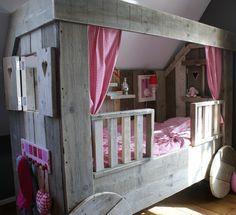 Kinderbed Steigerhout | Wegdroombed Pipo Bed