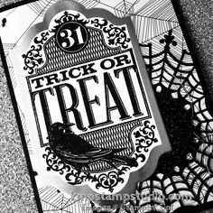 Love to pair silver with black for a classy, grown up take on Witches' Night! #stampinup #witchesnight #Halloween #card #trickortreat #handmadefortheholidays
