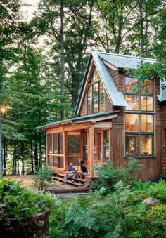 Shingle Style Archives - Page 2 of 4 - Maine Home + Design A Frame House Plans, Pole Barn House Plans, Pole Barn Homes, Cabin Design, Cottage Design, House Design, Lakeside Living, Lakeside Cottage, Forest Cottage