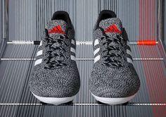 Adidas Primeknit Black/White Front View