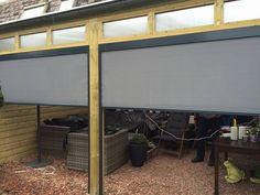 Mooi ritsscreen geplaatst onder in veranda in Nijmegen.   #ritsscreen #zipscreen #zonwering #sezoen