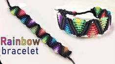 Macrame tutorial: The rainbow bracelet - Easy and cute craft idea