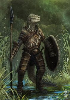 Argonian by ~LyntonLevengood on deviantART
