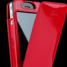 Red patent leather Sena iPhone case.  www.senacases.com