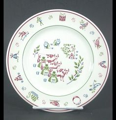 Twelve Days of Christmas Dishes Salad Plate by KathrynsThisandThat