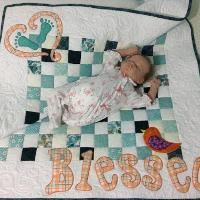 """""""Blessed"""" Baby Quilt 40"""" x 40"""""""