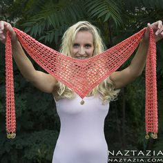 DIY Free Pattern and YouTube Video Tutorial Crochet V Scarf by Donna Wolfe from Naztazia