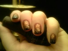 Copper and black nails