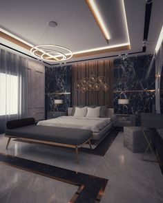 Master bedroom on Behance House Ceiling Design, Ceiling Design Living Room, Bedroom False Ceiling Design, Master Bedroom Interior, Room Design Bedroom, Modern Master Bedroom, Bedroom Furniture Design, Home Room Design, Modern Ceiling Design