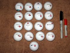 golf ball marking ideas - Buscar con Google