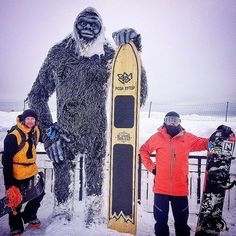 by @victordelerue #bigfoot #yeti #russia #snowboarding #snowboard #picoftheday #photo #instacool #arteurbano #streetart #graphicdesign #contemporaryart