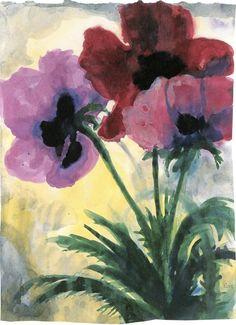 Three Blossoms ~ Emil Nolde | Lone Quixote | Lone Quixote| #EmilNolde #nolde…