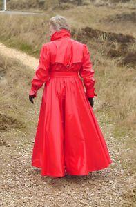 Regenmantel-Lackmantel-Rainwear-Raincoat-Impermeable-Gummimantel-XL-Extralang