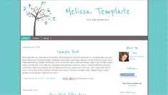 Premade Blogger Blog Template | Style: Melissa | $10.00 www.blogaholicdesigns.com