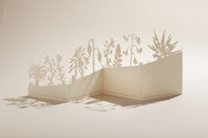 Laser cut botanical artwork