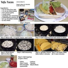 Step by step guide on how to make black bean and tofu tacos