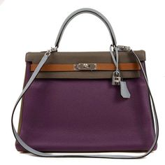 Hermes 35cm 6 Color Limited Edition Kelly | From a collection of rare vintage handbags and purses at http://www.1stdibs.com/fashion/accessories/handbags-purses/