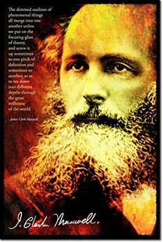 James Clerk Maxwell Art Print Photo Poster Unique Gift - Size: 24 x 16 Inches (LIMITED SUPPLY) - 61 x 40.5 cm)