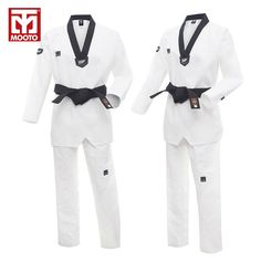 e45422050a4 MOOTO WTF Dobok Taekwondo Dobok Uniform Kukkiwon Korea Taekwondo Dobok with  Special Fabric Cotton black V.