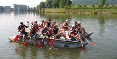 3 Std. Floßbau mit Floßtour in Gräfenthal Raum Erfurt #Abenteuer #Boote #Bootsfahrt