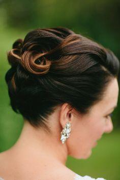 Wedding hair: http://www.stylemepretty.com/australia-weddings/queensland-au/gold-coast/2014/09/25/gold-coast-hinterland-wedding-at-sarabah-estate-vineyard/ | Photography: The Arched Window - http://www.thearchedwindow.com.au/