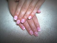 Nails#franche#pink#nude#