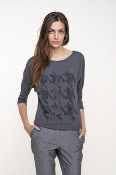 bluzka damska-dz. #grey #houndstooth