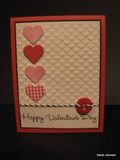 Embossed hearts by sandijcrafts - Cards and Paper Crafts at Splitcoaststampers