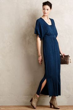 Morgane Kimono Maxi Dress - anthropologie.com Definitely more informal than our other options, but might be comfier if it's hot?