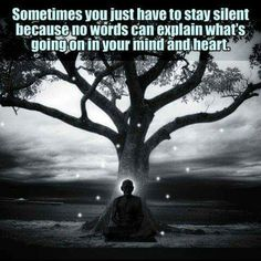 Sometimes you have to stay silent