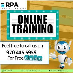 Why #Rpaonlinetraining? We Offered real-time knowledge Placement-oriented training and project support Certification is also offered after completion of course To empower every individual through online learning Help individuals and professionals to fulfill their dreams Flat no: 312, 3rd Floor, NILGIRI Block, Aditya Enclave, Ameerpet, Hyderabad-16  +91-9704455959,9618245689 rpatraining999@gmail.com www.rpaonlinetraining.com